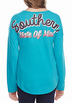 Red Camel Turquoise 'Southern State of Mind' Sweeper Tee