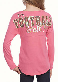 Red Camel Pink 'It's Football Y'all' Sweeper Tee
