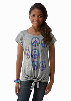 Red Camel Girls® Multi Peace Signs Tee Girls 7-16
