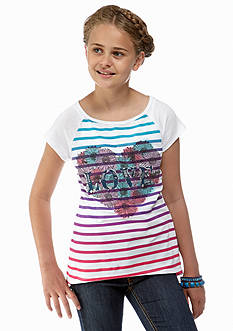 Red Camel Girls® Stripe Heart Tee Girls 7-16
