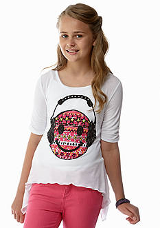 Red Camel Girls® Smiley Face Sharkbite Tee Girls 7-16