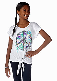Red Camel Girls® Peace Tie Front Tee Girls 7-16