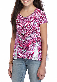 Red Camel Chevron Lace High Low Top Girls 7-16