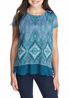 Red Camel Printed Hacci Top Girls 7-16