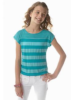 Red Camel Girls® Double Stripe Knit Tee Girls 7-16