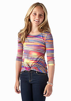 Red Camel Girls® Stripe Hatchi Tee Girls 7-16