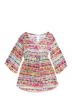 Jessica Simpson Multi Print Cover Up Tunic Girls 7-16