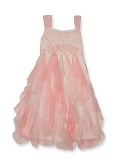 Pretty by Biscotti Lace Bodice to Vertical Ruffle Dress Girls 4-6x