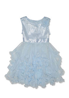 Pretty by Biscotti Sequin to Tiered Ruffle Dress Girls 4-6x