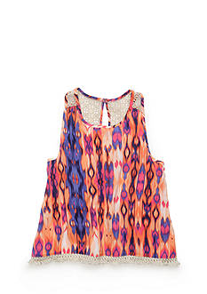 Roxy Girls™ Maui Printed Crochet Tank Top Girls 7-16