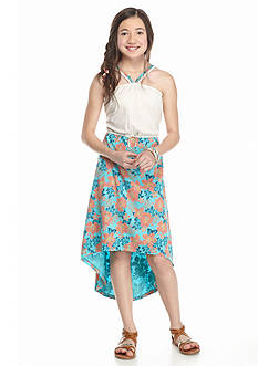Roxy Girls™ Petunia Bloom High Low Maxi Dress Girls 7-16