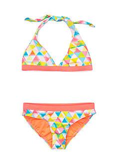 Roxy Girls™ 2-Piece Geo Halter Bikini Girls 7-16