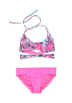 Roxy Girls™ 2-Piece Destination Bandeau Bikini Set Girls 7-16