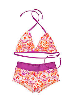 Roxy Girls™ 2-Piece Miles Away Bandeau Bikini Set Girls 7-16