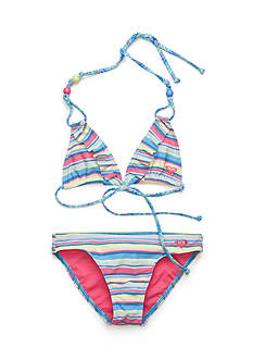 Roxy Girls™ 2-Piece Island Tiles Ruffle and Bikini Bottoms Girls 7-16
