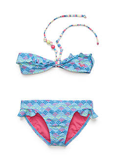 Roxy Girls™ 2-Piece Island Tiles Ruffle Bandeau and Bikini Bottoms Girls 7-16
