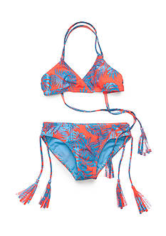 Roxy Girls™ 2-Piece Primal Palms Bandeau Bikini Girls 7-16