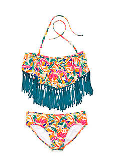 Roxy Girls™ 2-Piece Boho Fringe Bandanna Bikini Set Girls 7-16