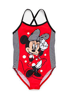 Disney Minnie Mouse Crisscross Swimsuit Girls 4-6x