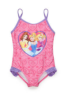 Disney Princess Character Ruffle Swimsuit Girls 4-6x