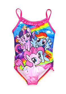 My Little Pony™ Character Ruffle and Bow Swimsuit Girls 4-6x