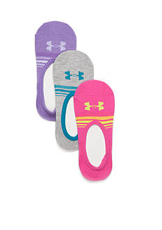 Under Armour 3-Pack Lo Lo Socks Girls Youth Large
