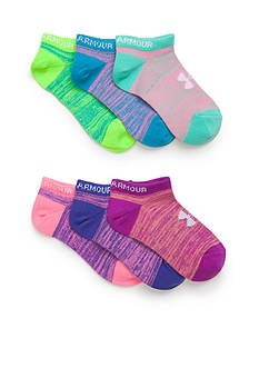 Under Armour 6-Pair Pack Essential No Show Socks Girls 4-16