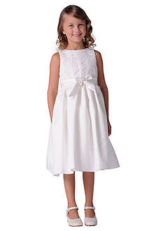 Us Angels Flower Girl Lace Overlay Satin Dress- Girls 7-16