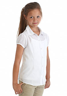 Nautica Uniform Blouse With Cami Girls 7-16