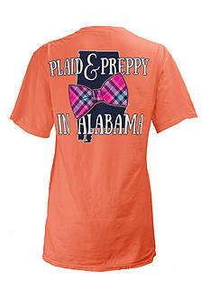 Royce Brand Alabama State Preppy Plaid Tee Girls 7-16