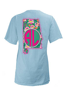 Royce Brand Alabama State Floral Preppy Tee Girls 7-16