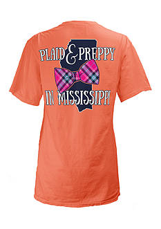 Royce Brand Mississippi State Preppy Plaid Tee Girls 7-16