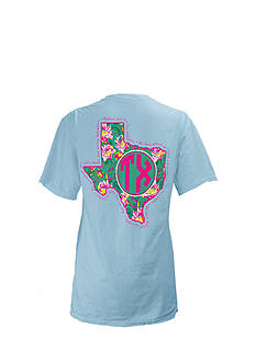 Royce Brand Texas State Floral Preppy Tee Girls 7-16