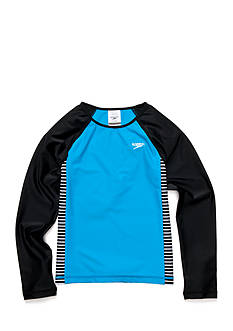 speedo Long Sleeve Raglan Rashguard Girls 7-16