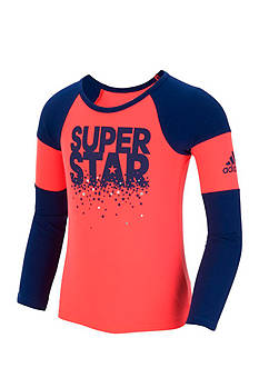 adidas Neon Racing Raglan Tee Girls 4-6x
