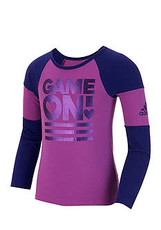 adidas Game On Raglan Tee Girls 4-6x