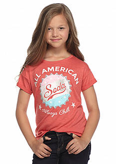 Jessica Simpson Ashlen Soda Graphic Top Girls 7-16