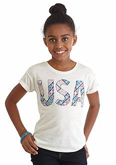 Jessica Simpson Ashlen 'USA' Flag Top Girls 7-16