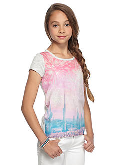 Jessica Simpson Marie Woven Printed Top Girls 7-16