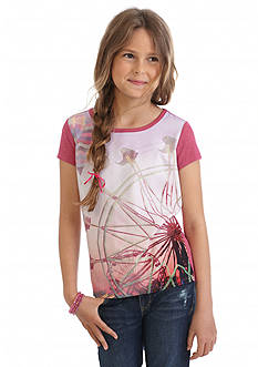 Jessica Simpson Marie Woven Print Top Girls 7-16