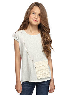 Jessica Simpson Oksana Crochet Purse Top Girls 7-16