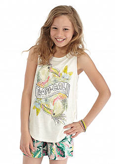 Jessica Simpson Rini Isum Fringe Tropical Tank Top Girls 7-16