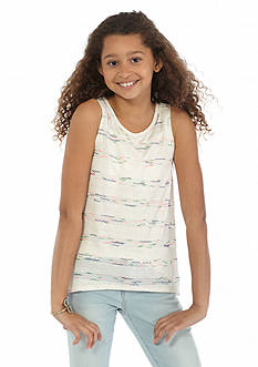 Jessica Simpson Ada Sun Stripe Hacci Tank Top Girls 7-16