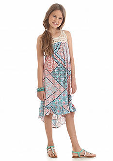 Jessica Simpson Kaylpso Print Swing Dress Girls 7-16