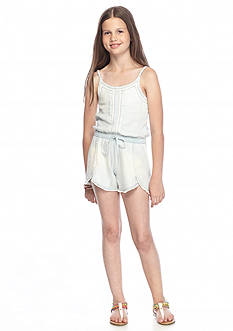 Jessica Simpson Janay Chambray Romper Girls 7-16