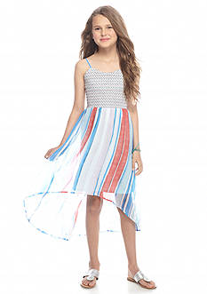 Jessica Simpson Sierra Smocked to Chiffon Dress Girls 7-16