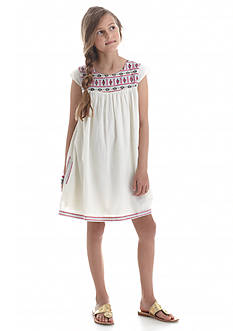 Jessica Simpson Lorelie Embroidered Shift Dress Girls 7-16