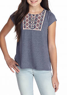 Jessica Simpson Naveah Embroidery Top Girls 7-16