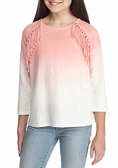 Jessica Simpson Cadee Ombre Fringe Top Girls 7-16