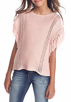Jessica Simpson Lindi Yarn Fringe Sweater Girls 7-16